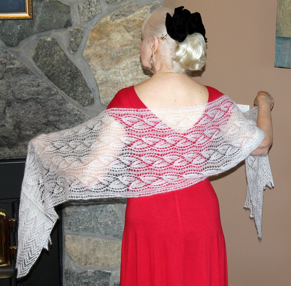 Frost Flower Lace Stole title=