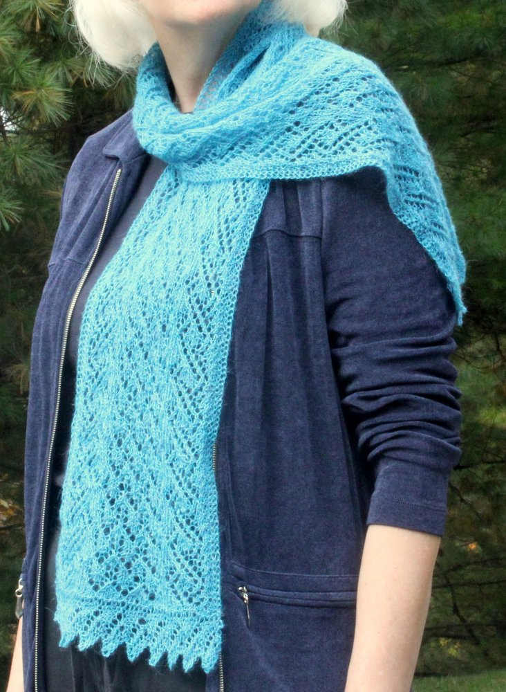 Tide Pool Lace Scarf title=